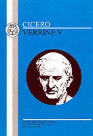 Cicero: Verrine V 9780906515747