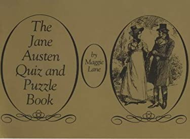 Jane Austen Quiz and Puzzle Book 9780902920484