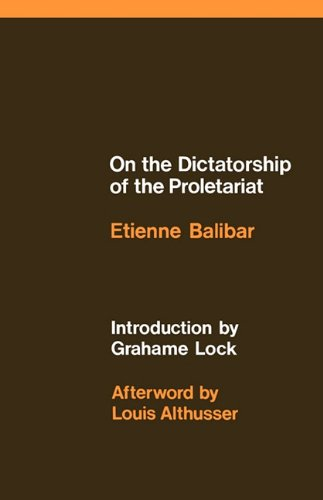 On the Dictatorship of the Proletariat 9780902308596