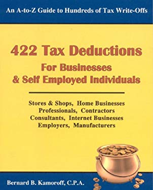 422 Tax Deductions for Businesses & Self Employed Individuals 9780917510298