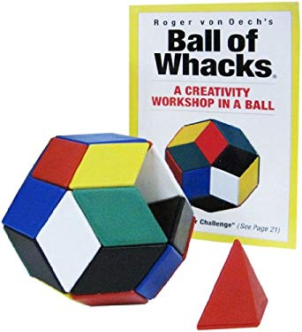 Ball of Whacks: Six-Color: A Creativity Tool for Innovators, Artist, Engineers, Writers, Designers, and You [With 30 Pyramid Magnetic Building BlocksW 9780911121056