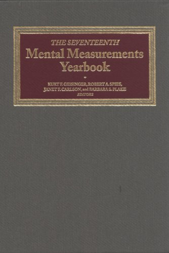Mental Measurements Yearbook 9780910674607
