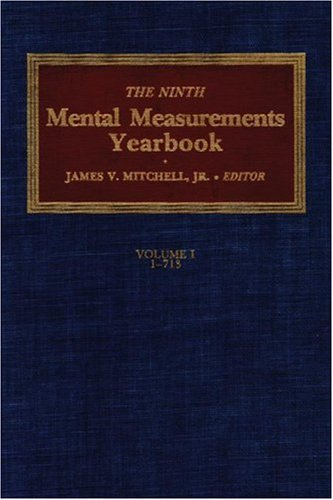 The Ninth Mental Measurements Yearbook 9780910674294