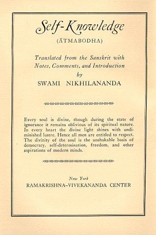 Self-Knowledge: Sankara's