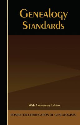 The Bcg Genealogical Standards Manual 9780916489922