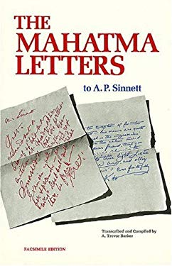 The Mahatma Letters to A. P. Sinnett 9780911500219