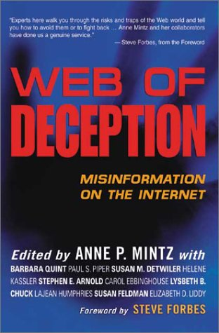 Web of Deception: Misinformation on the Internet 9780910965606