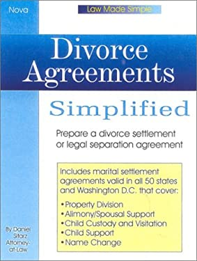 Divorce Agreements Simplied, Book W/CD 9780935755862