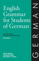 English Grammar for Students of German 4th EDN. 9780934034388