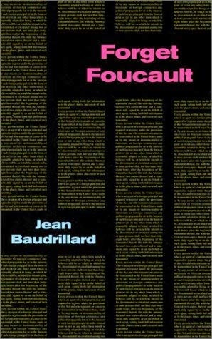 Forget Foucault 9780936756103