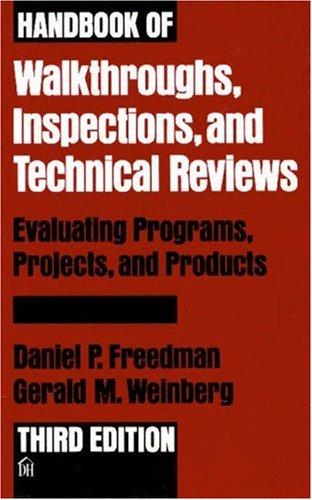 Handbook of Walkthroughs, Inspections, and Technical Reviews 9780932633194