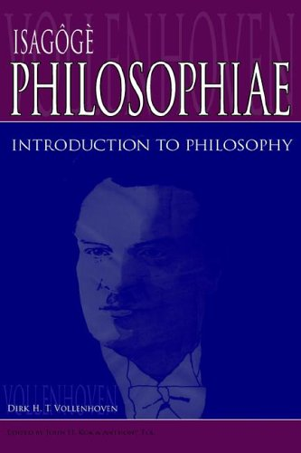 Isagg Philosophiae: Introduction to Philosophy 9780932914637