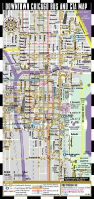 Streetwise Chicago Bus, CTA & Metra Map - Laminated Chicago Public Metro Map - Minimetro (2010 Updated) 9780935039566
