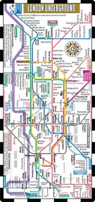 Streetwise London Underground Map - The Tube - Laminated London Metro Map: Folding Pocket & Wallet Size Metro Map for Travel 9780935039337