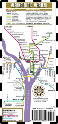 Streetwise Washington DC Metro Map - Laminated Washington DC Public Metro Map - Minimetro: Folding Pocket & Wallet Size Metro Map 9780935039344