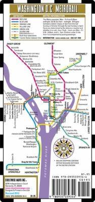 Streetwise Washington DC Metro Map - Laminated Washington DC Public Metro Map - Minimetro: Folding Pocket & Wallet Size Metro Map