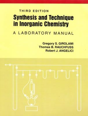 Synthesis and Technique in Inorganic Chemistry 9780935702484