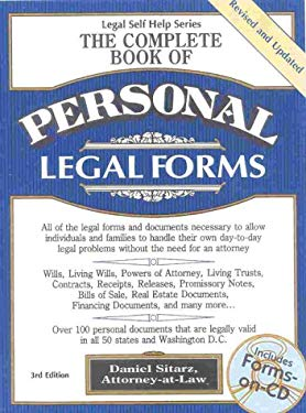 The Complete Book of Personal Legal Forms, 3rd Edition [With CDROM] 9780935755923