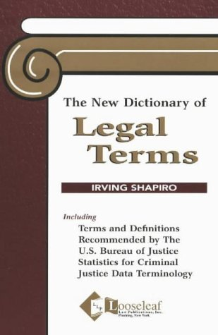 The New Dictionary of Legal Terms 9780930137014