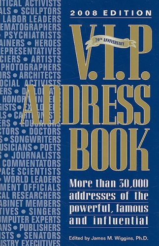 V.I.P. Address Book 9780938731528
