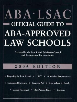 ABA/LSAC Official Guide to ABA-Approved Law Schools 9780942639926