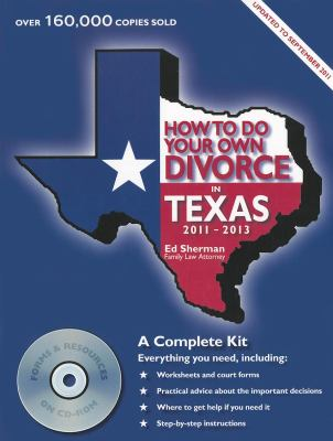How to Do Your Own Divorce in Texas [With CDROM] 9780944508831