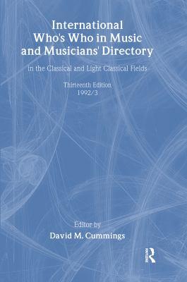 Intl Whos Who Music&ency Ed13 9780948875113