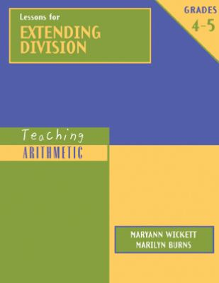Lessons for Extending Division, Grades 4-5 9780941355469
