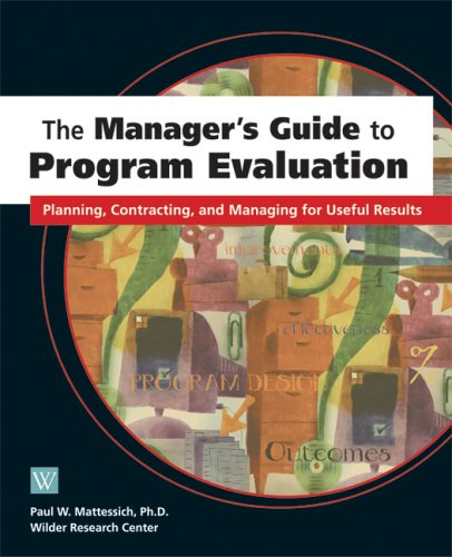 Managers Guide to Program Evaluation: Planning, Contracting, & Managing for Useful Results 9780940069381