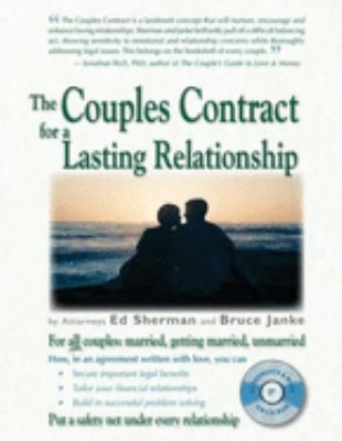 The Couples Contract for a Lasting Relationship [With CDROM] 9780944508589