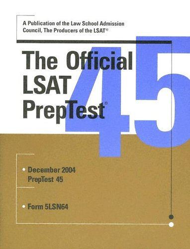 The Official LSAT Preptest 45 9780942639971