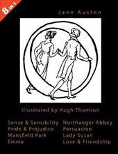 Illustrated Jane Austen - 8 Books in 1. Illustrated by Hugh Thomson. Sense & Sensibility, Pride & Prejudice, Mansfield Park, Emma, 4257177