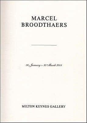 Marcel Broodthaers 9780955761027