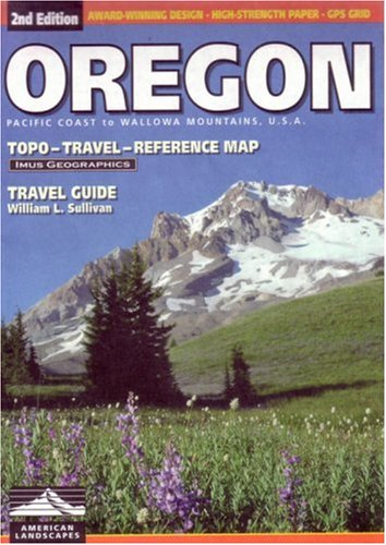Oregon Topo-Travel-Reference Map: Travel Guide 9780966534535