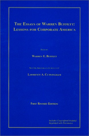 essays of warren buffett online The essays of warren buffett has 4318 ratings and 118 reviews robert said:  cunningham  the letters can be downloaded free of cost from berkshire web  site.