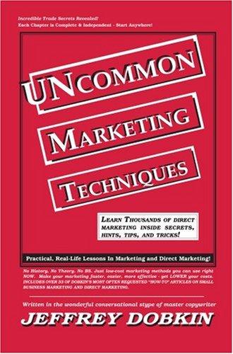 Uncommon Marketing Techniques 9780964287938