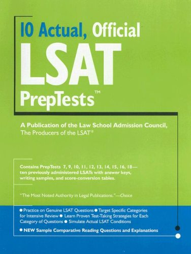 10 Actual, Official LSAT Preptests 9780979305047