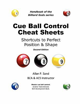 Cue Ball Control Cheat Sheets for Pool & Pocket Billiards 9780979345425