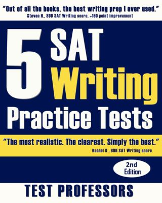 5 SAT Writing Practice Tests 9780979678677