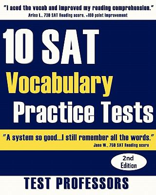 10 SAT Vocabulary Practice Tests 9780979678684