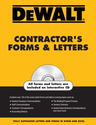 Dewalt Contractor's Forms & Letters [With CDROM] 9780977718320