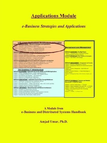 E-Business and Distributed Systems Handbook: Applications Module 9780972741422