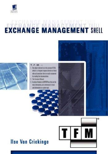 Exchange Management Shell: Tfm 9780977659784