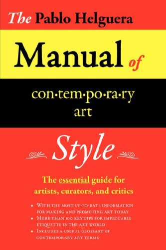 Manual of Contemporary Art Style 9780979076602