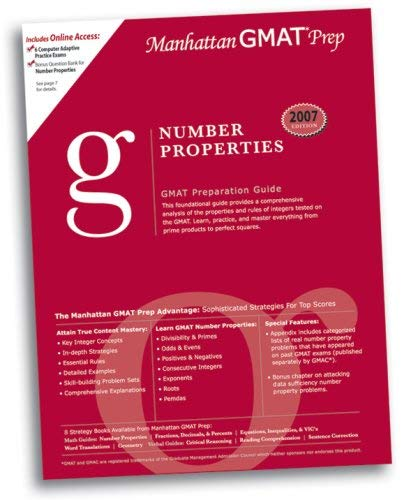 Number Properties GMAT Preparation Guide 9780979017506