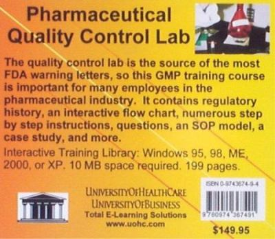 Pharmaceutical Quality Control Lab 9780974367491