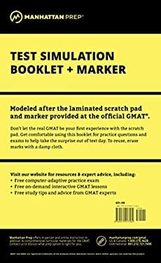 Manhattan GMAT Test Simulation Booklet [With Marker] 9780979017582