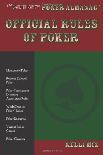 The Game Day Poker Almanac Official Rules of Poker 9780979588921