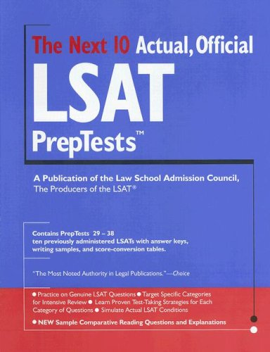 The Next 10 Actual, Official LSAT Preptests 9780979305054