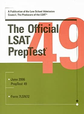 The Official LSAT PrepTest: June 2006 Form 7LSN72 9780976024569